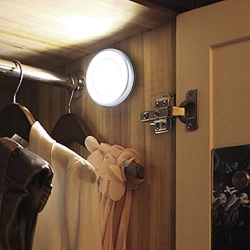 LED Light 0.3W 6 LED PIR del cuerpo humano del sensor de movimiento + luz de control de la luz blanca mini LED luz de noche for Armario/armario/Escaleras/dormitorio, la distancia del sensor: 5 m