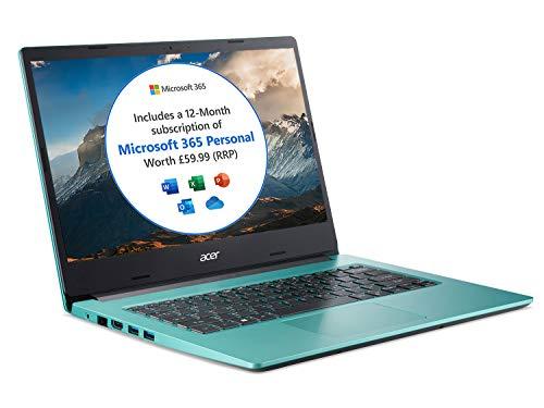 Acer Aspire 1 A114-33 14 inch Laptop (Intel Celeron N4500, 4GB RAM, 64GB eMMC, Full HD IPS Display, Windows 10 in S Mode, Office 365 Personal, Blue)