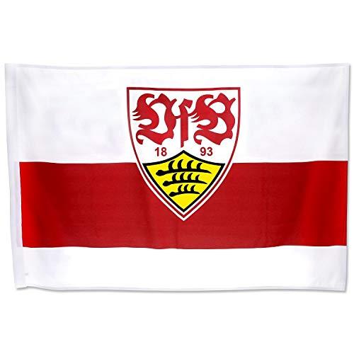 VfB Stuttgart - Schwenkfahne 60 x 40 cm - Flagge, Fahne, Banner Plus Lesezeichen Wir lieben Fußball
