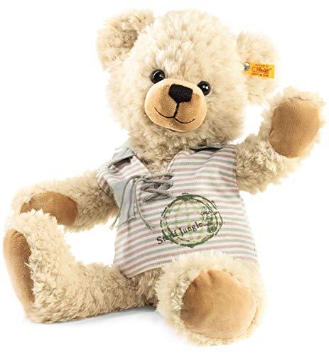 Steiff Lenni Teddybär - 40 cm - Teddybär mit T-Shirt - Kuscheltier für Kinder - weich & waschbar - blond (109508)