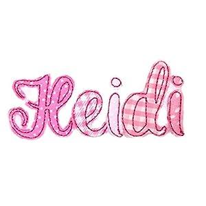 4 Buchstaben Namensschild gestickt Applikation Aufnäher Bügelbild für Kinder Name Wunschname Farbwahl Aufbügler…
