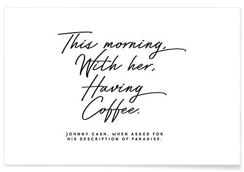 """JUNIQE® Liebeszitate Valentinstag Poster 20x30cm - Design """"Johnny Cash"""" entworfen von Honeymoon Hotel"""