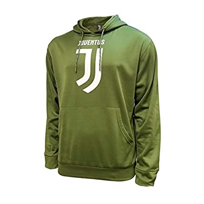 Icon Sports Juventus F.C. Pullover Hoodies (Youth Medium, Olive - Back Wordmark Print)