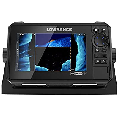 HDS-7 LIVE - 7-inch Fish Finder with Active Imaging 3 In 1 Transducer with FishReveal Fish Targeting and Smartphone integration. Preloaded C-MAP US Enhanced mapping.