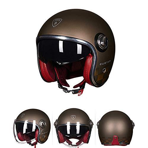 3/4 Retro Custom Chopper Harley Moto Helmet Cafe Racer Touring Biker J