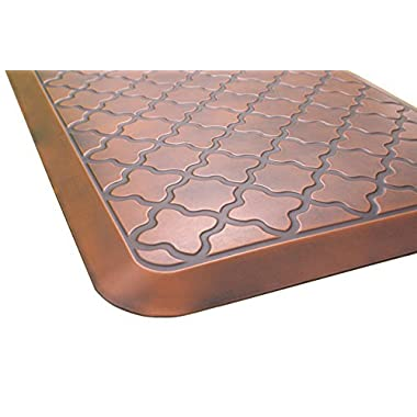 Butterfly Anti-Fatigue 24 by 70 Inch Quatrefoil Kitchen Comfort Mat, Antique