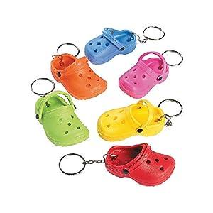 Rubber Flipflop Shoe Key Chains - Apparel Accessories - 12 Pieces
