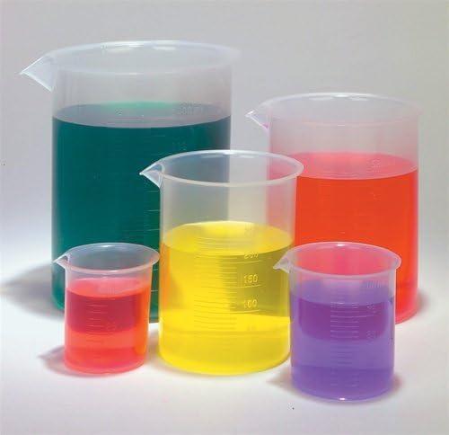 SEOH Plastic Beaker Set - 5 Sizes - 50 100 250 500 and 1000ml