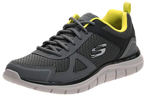 Skechers Track, Zapatillas de Entrenamiento Hombre, Multicolor (CCLM Black Leather/Mesh/Trim), 43 EU