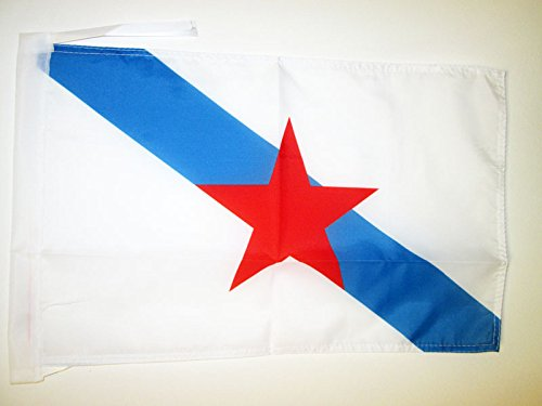 AZ FLAG Bandera de Galicia ESTRELEIRA 45x30cm - BANDERINA