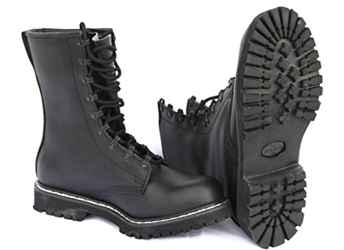 Bundeswehr Aos-outdoor – Stivali in pelle Stivali BW Stivali Stivali Stivali Nero 37-48 Nero Size: 43 EU