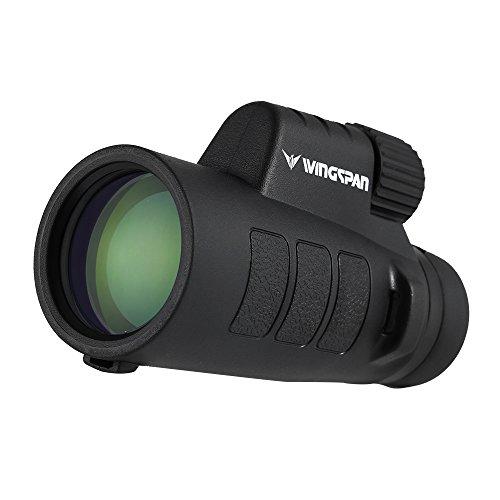 Wingspan Optics ProSpotter 10X42 Compact Monocular Scope. New Advanced PrismView Optics Creates Spectacularly Crisp