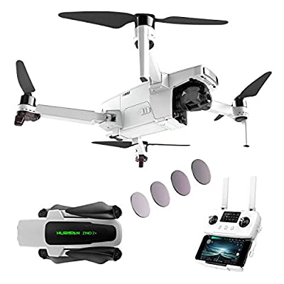 Hubsan Zino 2 Plus Drone with 3-Axis Gimbal 4K 60FPS UHD Camera, GPS FPV Live Video RC Quadcopter for Adults, 9KM Transmission, Auto Return Home, 35mins Flight Time