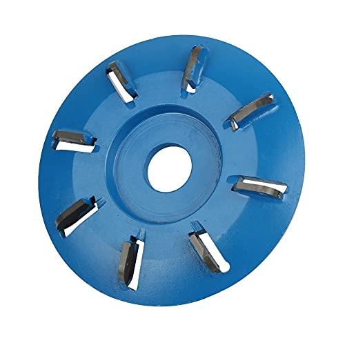 アングルグラインダーディスク 90mmパワーウッドカービングディスク16mm8Tアングルグラインダーフライスカッターティートレイディスクウッドワーカー電動工具用 木彫りディスクツール (Color : Blue)