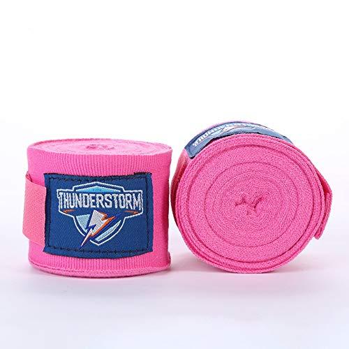 DKE&FX Vendas Boxeo Guantes de Color sólido Venda elástica Sanda Muay Thai Boxing con el Vendaje de la muñeca al por Mayor y los Deportes de la Aptitud by (Color : Pink, Size : 3M)