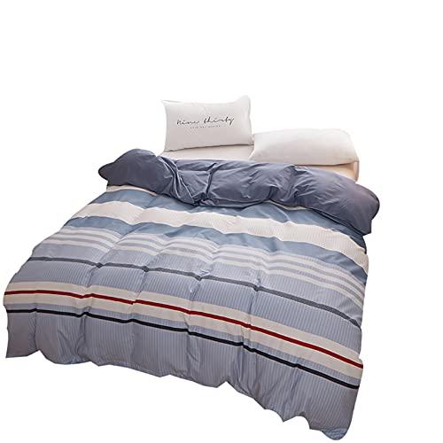 CCBAO Ropa De Cama Textiles para El Hogar Impresión Simple Funda Nórdica Funda De Almohada Ambiente Elegante Juego De 3 Piezas 220x240cm