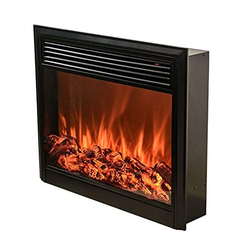 RENJUN- Home Electronic Chimenea Calefacción Efecto de Llama Realista con Chimenea remota incrustada 27.6x7x23.6in