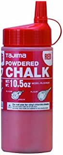 TAJIMA Micro Chalk - Red 10.5 oz (300g) Ultra-Fine Snap-Line Chalk with Durable Bottle & Easy-Fill Nozzle - PLC2-R300