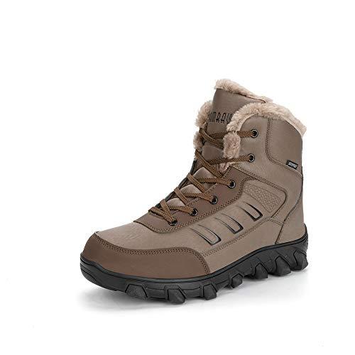 Hombres Botas de Senderismo Impermeable Invierno Zapatos de Trekking Deportivos Cámping Nieve...