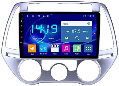 AEBDF Navegación estéreo para Coche Android 9,1 para Hyundai I20 2012-2014, Reproductor Multimedia Bluetooth con Pantalla táctil de navegación por satélite,4Core WiFi+4G 1+32G