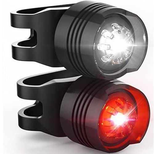 Patabit Luces de bicicleta delantera y trasera para bicicleta de carrera LED...