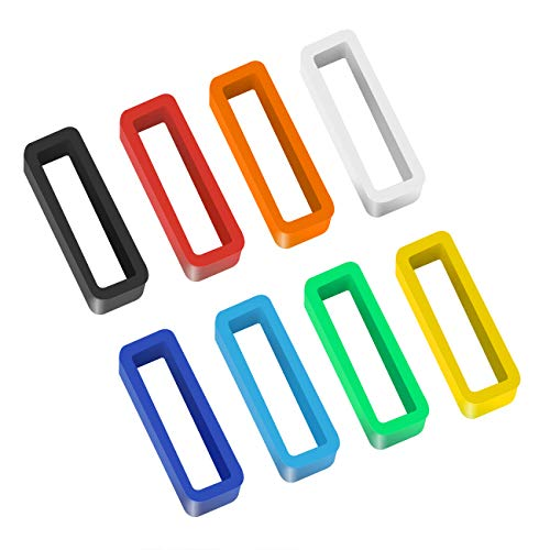 8 Pack 20mm Rubber Replacement Watch Band Strap Loops Silicone Watch Strap Keeper Retainer Holder Loop(Mix Color)