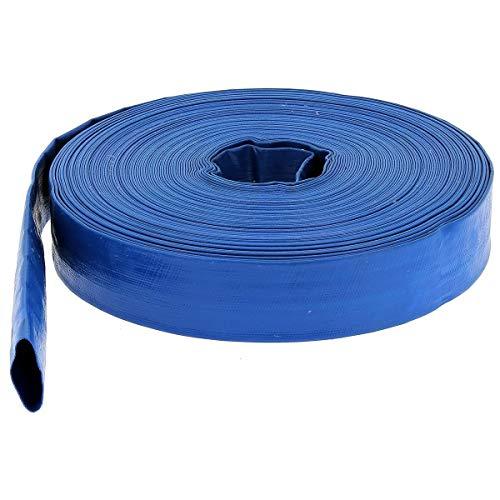 HUGGY TUYAUX Tuyau de refoulement Plat Ø 25 mm (1'') Bleu - Longueur 25 mètres