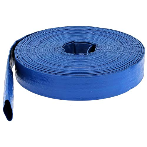 Flachschlauch PVC - Bauschlauch - Industrieschlauch - Betriebsdruck 2 bar - blau - Innen- Durch. 100mm (4 Zoll) Länge 10 m