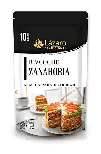 Lázaro Preparado de Bizcocho De, Mezcla para Elaborar Bizcocho, Magdalenas, Cupcakes, En Casa Fácil y Rápido, Zanahoria, 300 Gramos