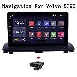 XBRMMM Android 8,1 9 Zoll HD-Touchscreen-Radio GPS-Navigation Für Volvo XC90 2004-2014 Bluetooth MP4 MP5 Musik-Player WiFi Lenkrad-Steuerunterstützung DVR OBD2, 4G + WiFi: 2 + 32G