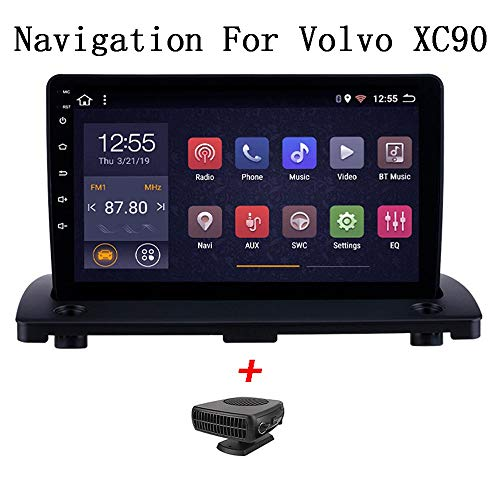 HHttM Android 8.1 9 Pulgadas HD Pantalla Táctil Radio Navegación GPS para Volvo XC90 2004-2014 Bluetooth MP4 MP5 Reproductor Música WiFi Control del Volante Soporte DVR OBD2, 4G + WiFi