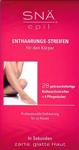 Snä Epil Enthaarungsstreifen Körper, 14 Doppelstreifen (28 gebrauchsfertige Einzelstreifen), 2er Pack (2 x 28 Stück)