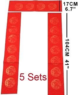 MasterChinese DIY Fu Chun Lian Chinese New Year Calligraphy Red Rice Paper (6x41
