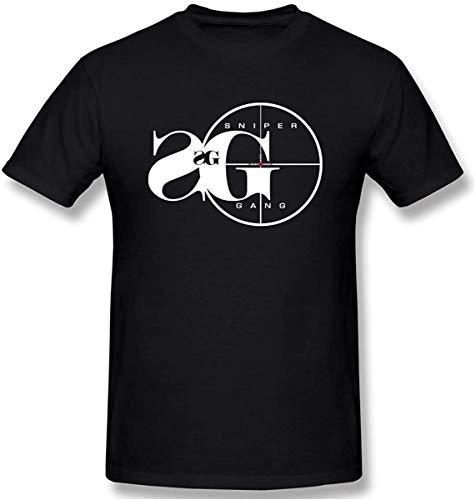 YGSKUY Mens Graphic Printing Sniper Gang Classic T-Shirts