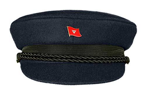 MADSea Elbsegler Premium Tuch mit Flaggenpin Kiel dunkelblau Pin, Größe:60, Pins:Kiel