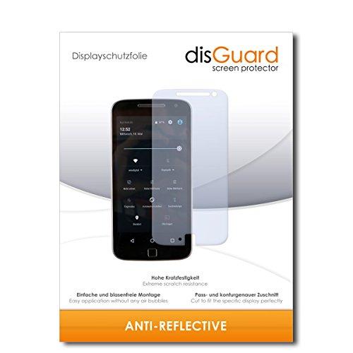disGuard® Bildschirmschutzfolie [Anti-Reflex] kompatibel mit Lenovo Moto G (4. Gen.) Plus [4 Stück] Entspiegelnd, Matt, Antireflektierend, Extrem Kratzfest, Anti-Fingerabdruck - Panzerglas Folie, Schutzfolie