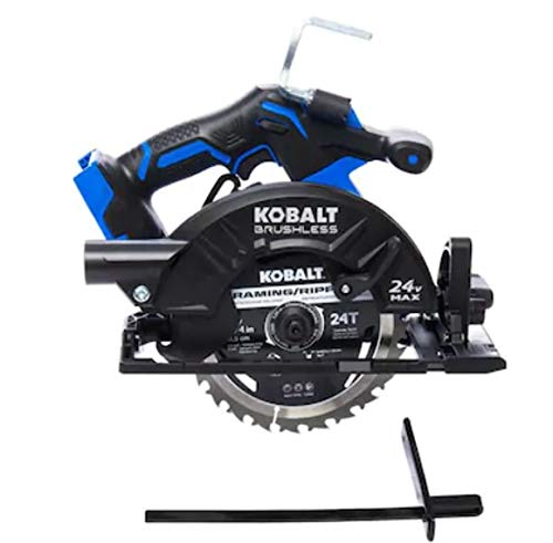 Kobalt XTR 24-Volt Max 7-1/4-in Brushless Cordless Circular Saw with Brake and Metal Shoe (Tool Only)
