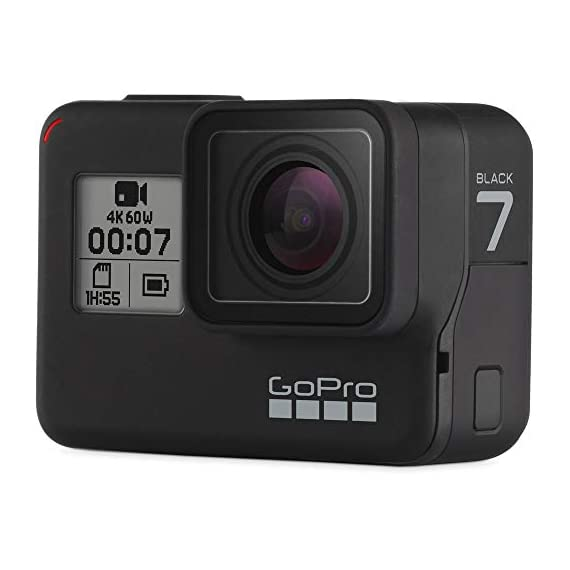 Gopro hero 7 (black) action camera w/dual battery charger and extra battery bundle 3 this k&m bundle includes all standard gopro accessories + limited 1-year warranty gopro hero 7 (black) action camera box includes: gopro hero7 black, rechargeable battery, the frame for hero7 black, curved adhesive mount, flat adhesive mount, mounting buckle, usb-c cable, limited 1-year warranty. Gopro hero 7 (black) action camera highlights: 4k60/50, 2. 7k120/100 & 1080p240/200, 12mp still photos with selectable hdr, hypersmooth video stabilization, direct live streaming to facebook live
