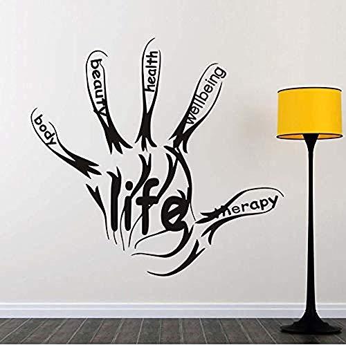 Pegatinas de pared para sala de estar life fitness gym text art murales papel tapiz autoadhesivo extraíble pegatinas para el dormitorio de la sala de estar decoración del hogar 61 5 * 58 cm