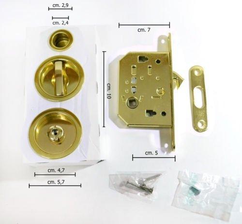 Sicma - Kit serrure pour porte coulissante: Amazon.es: Bricolaje y herramientas