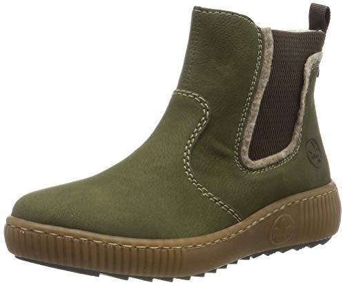Rieker Damen Z6654 Chelsea Boots, Grün (Tanne/Wood/Brown 54), 37 EU