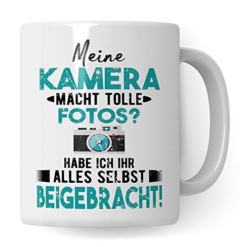 Pagma Druck Kamera Tasse, Geschenkideen für Fotografen Becher, Kaffeebecher Fotografieren Fotografie Objektiv Fotograf, Geschenke für Fotografen Kameramann Kaffeetasse