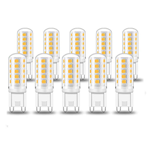 Eofiti 10er G9 LED Dimmbar 5W LED G9 Lampe Ersetzt 40W Halogen Lampe Kein Flackern Warmweiß 2700K 420 Lumen 230V Birne Leuchtmittel Stiftsockel Hohe CRI 83Ra Hell 360° Abstrahlwinkel
