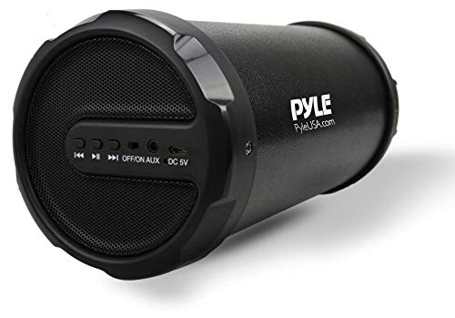 Pyle Portable Speaker, Boombox, Bluetooth Speakers, Rechargeable Battery, Surround Sound, Digital Sound Amplifier, 3.5mm Aux Input, 2.1 Channel Hi-Fi Active Stereo Speaker System in Black - PBMSPG11