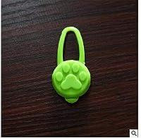 ペット犬夜LED懐中電灯犬猫首輪輝くペンダント安全ペットリードネックレス明るい明るい装飾首輪-Blue_M