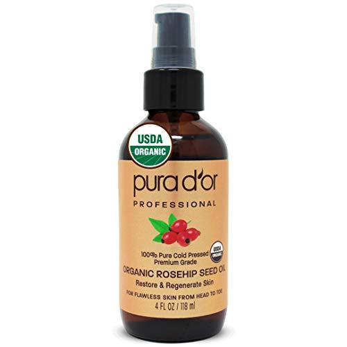 6. Pura d´or Professional Organic Rosehip Oil