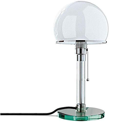 LED Tischleuchte Tischlampe Echtglas Schreibtischleuchten, Schlafzimmer Nachttischlampen Glas E27 Lampen Leuchten, Bauhaus Wilhelm Wagenfeld Schreibtischlampe Nachttischlampe Augenlampe Nachtlicht