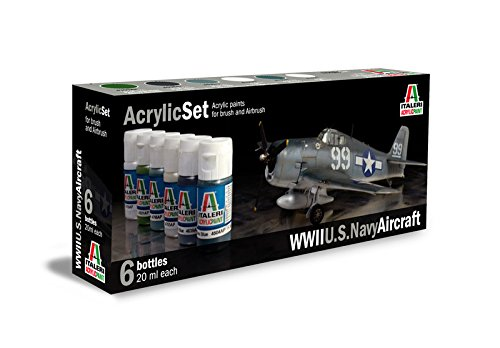 Italeri 510000439 - Color Set for WWII U.S. Navy Aircraft