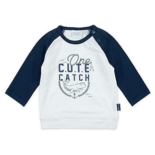 Feetje T-shirt raglan à manches longues Cute catch top bébé vêtements bébé, blanc/marine