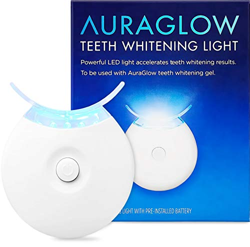 AuraGlow Teeth Whitening Accelerator Light, 5X More Powerful Blue LED Light, Whiten Teeth Faster